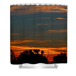 Intense Sky Shower Curtain