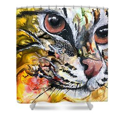 Shower Curtain featuring the painting Intensity by Sherry Shipley
