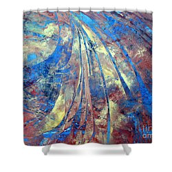 Intensity Shower Curtain by Valerie Travers