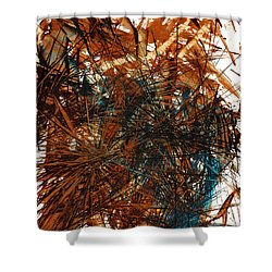 Intensive Abstract Expressionism Series 46.0710 Shower Curtain