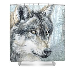 Intent Eyes Shower Curtain