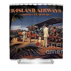 Inter Island Airways-honolulu Hawaii Shower Curtain
