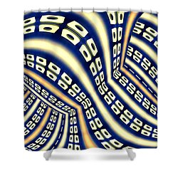 Interchange Shower Curtain by Paul Wear