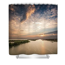 Intercoastal Sky Shower Curtain