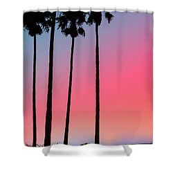 Intercoastal Sunset Shower Curtain by Bill Cannon