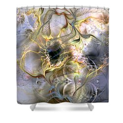 Interconnectedness Of Life Shower Curtain by Casey Kotas