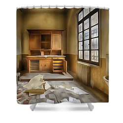 Interior Furniture Atmosphere Of Abandoned Places Dig Paint Shower Curtain