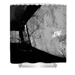 Interior In Gray Shower Curtain