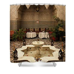 Interior Of A Traditional Riad In Fez Shower Curtain