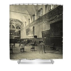 Interior Of The Dining Hall Of The Church Of Santa Maria Delle Grazie Milan Shower Curtain by Alinari