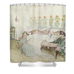 Interior Shower Curtain by Peder Severin Kroyer