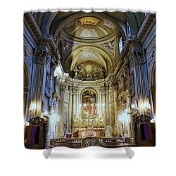 Interior View Of Santi Vincenzo E Anastasio A Fontana Di Trevi In Rome Italy Shower Curtain
