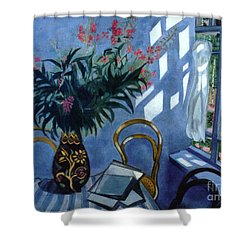 Interior With Flowers Shower Curtain