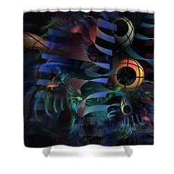 Shower Curtain featuring the digital art Interlude 1536 - Fractal Art by NirvanaBlues