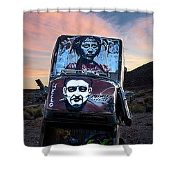 International Car Forest Of The Last Church 1 Shower Curtain