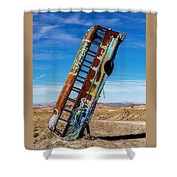International Car Forest Of The Last Church Shower Curtain