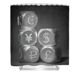 International Currency Symbols Shower Curtain