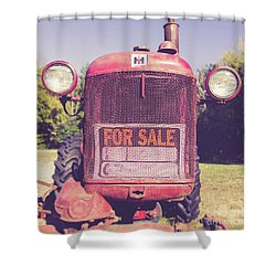 Shower Curtain featuring the photograph International Harvester Farmall Cub Vintage Tractor by Edward Fielding