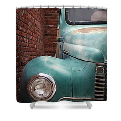 Shower Curtain featuring the photograph International Truck 1 by Heidi Hermes