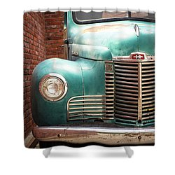 Shower Curtain featuring the photograph International Truck 2 by Heidi Hermes
