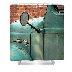 Shower Curtain featuring the photograph International Truck Side View by Heidi Hermes