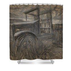 International Truck Skeleton Shower Curtain