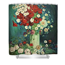 Interpretation Of Van Gogh Still Life With Meadow Flowers And Roses Shower Curtain