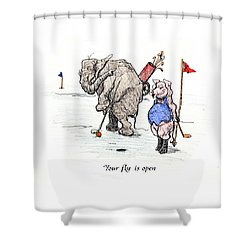 Interrupting Concentration Shower Curtain