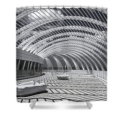 Intersecting Lines Shower Curtain