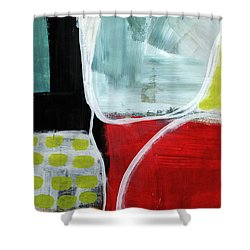 Intersection 37- Abstract Art Shower Curtain