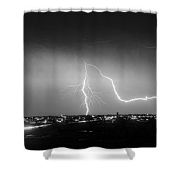 Intersection Black And White Shower Curtain by James BO  Insogna