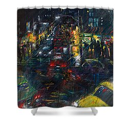 Intersection Shower Curtain by Leela Payne