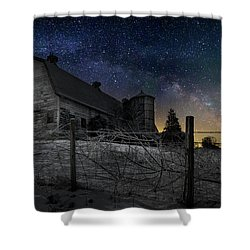 Shower Curtain featuring the photograph Interstellar Farm by Bill Wakeley