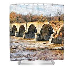 Interurban Bridge Shower Curtain
