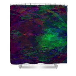 Into A Cave Of Dreams Shower Curtain by Mathilde Vhargon