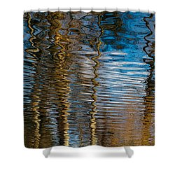 Shower Curtain featuring the photograph Into Chaos Blue by Tom Vaughan