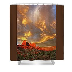 Into Eternity Shower Curtain