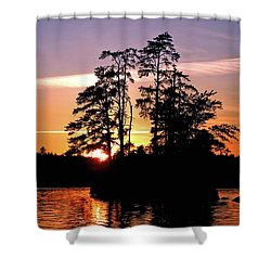 Into Shadow Shower Curtain