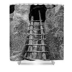Shower Curtain featuring the photograph Into The Alcove by Gary Lengyel