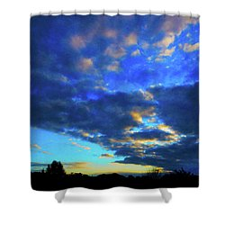 Into The Blue Shower Curtain by Mark Blauhoefer