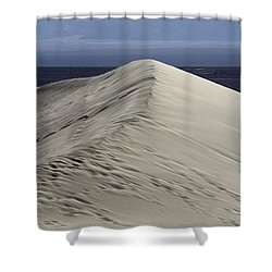 Shower Curtain featuring the photograph Into The Blue by Suzanne Oesterling