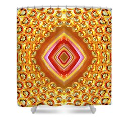 Shower Curtain featuring the digital art Into The Centre - Vertical by Wendy Wilton