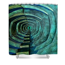 Shower Curtain featuring the photograph Into The Dark by Paul Wear