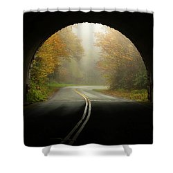 Into The Fall Blue Ridge Parkway North Carolina Shower Curtain