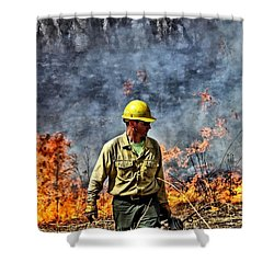 Into The Flames 1 Shower Curtain