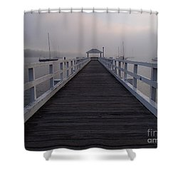 Into The Fog Shower Curtain by Trena Mara
