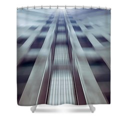Into The Future Shower Curtain by Wim Lanclus