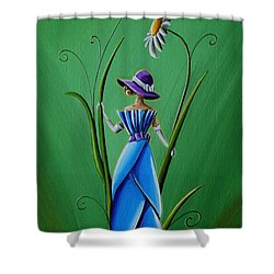 Into The Garden Shower Curtain by Cindy Thornton