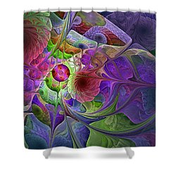 Shower Curtain featuring the digital art Into The Imaginarium  by NirvanaBlues