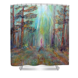 Into The Light Shower Curtain by Claire Bull